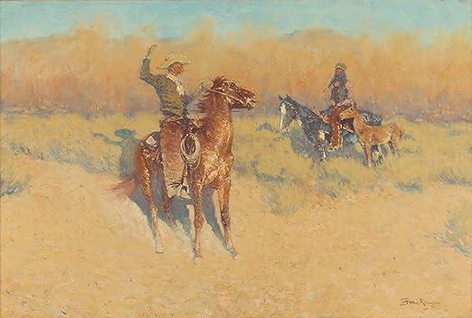 Frederic Remington The Smoke Signal Giclee Canvas Print  Poster