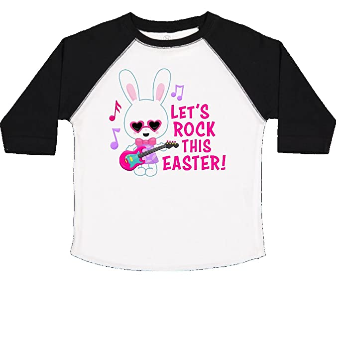 inktastic Lets Rock This Easter with Bunny and Guitar Toddler T-Shirt