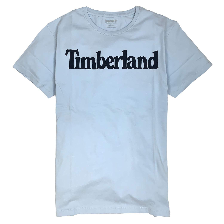 Timberland Mens Short Sleeve Linear Logo Organic Cotton T-Shirt