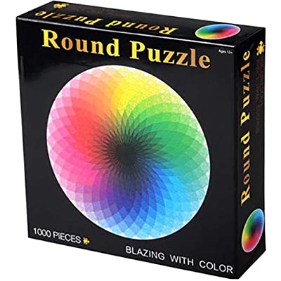 Jigsaw Puzzles 1000 Pieces for Adults Floor Puzzle Intellectual Game Learning Decompression Toys Rainbow Round Puzzles: Toys & Games