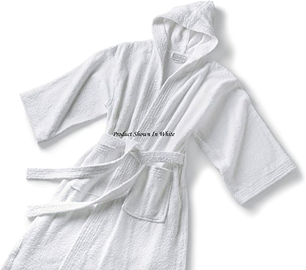 Spa and Resort Hooded Terry Bathrobe 9 Colors Available Full Length 51 Inches