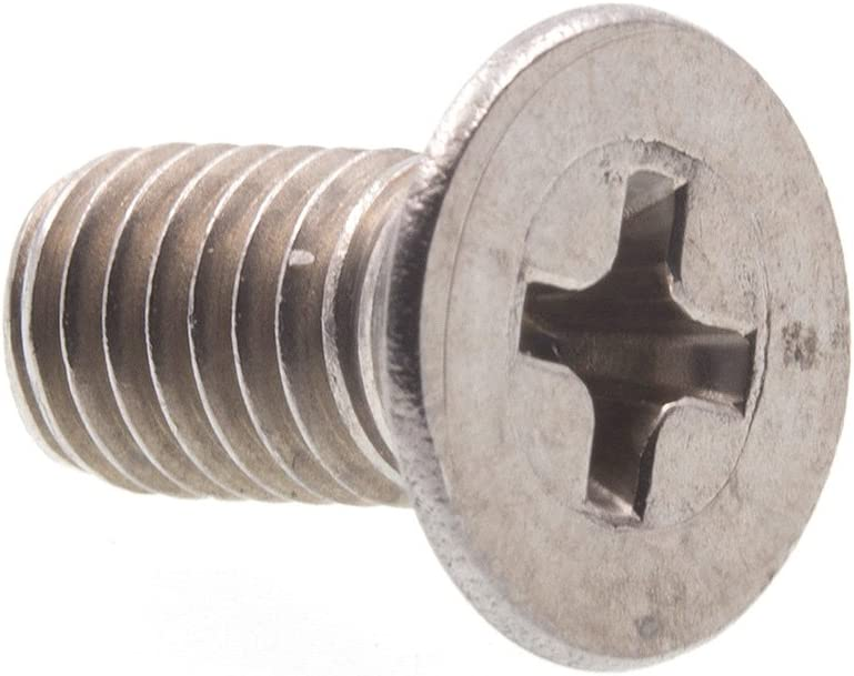 Pack of 10 M5-0.8 X 10mm Prime-Line 9121316 Machine Screw Flat Head Phillips Grade A2-70 Stainless Steel