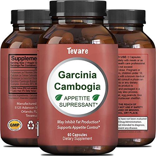 Pure Garcinia Cambogia Extrait - 95% HCA - Blocs de Carb de Digestion Brûle la Graisse du Ventre - Améliore le Métabolisme - Puissant coupe-Faim Naturel Pilules de Perte de Poids Pour les Hommes Et les Femmes - Par Tevare