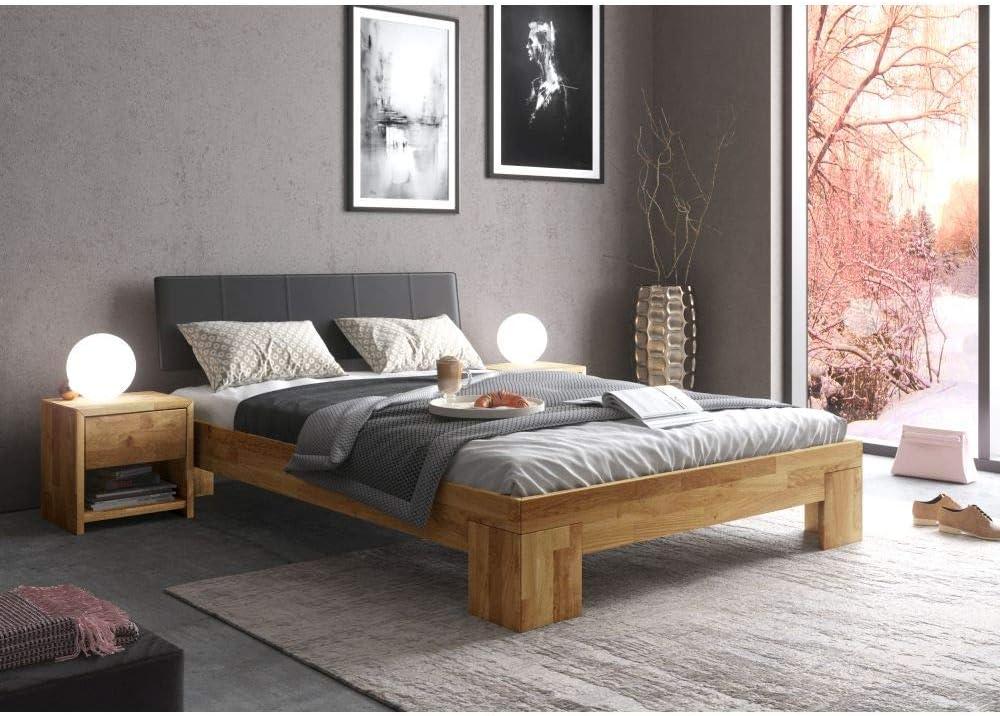 roominado Cama futón NEO con cabecero acolchado negro 180 x ...
