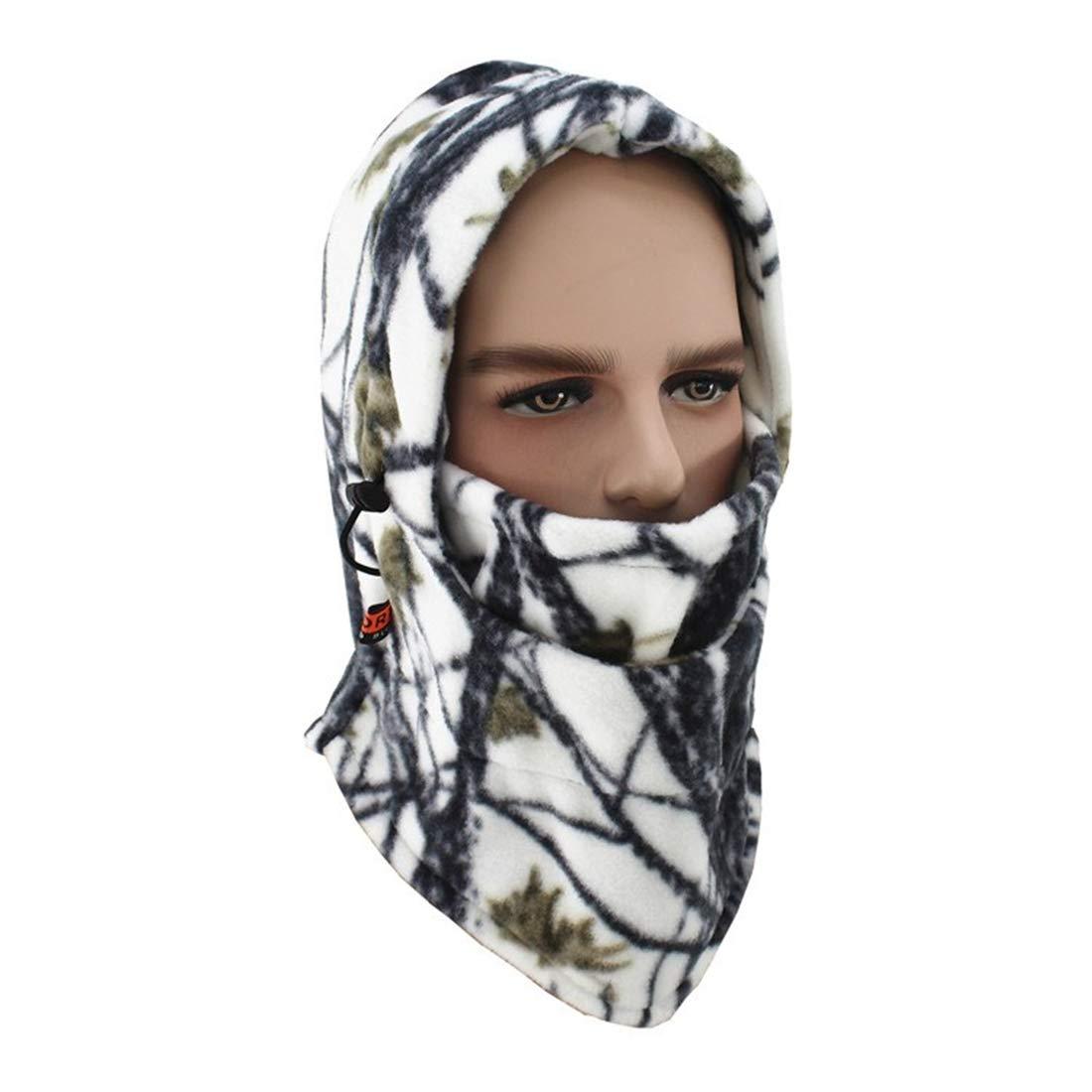 Yeying123 Autunno E Inverno Mimetico Outdoor Multi-Funzione Felpa con Cappuccio Sci Camuffamento Cappello Antivento, Camouflage1 96321