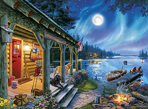 Buffalo Games - Darrell Bush - Moonlight Lodge - 1000 Piece Jigsaw Puzzle by Buffalo Games