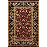 Safavieh Royalty Collection ROY256A Handmade Traditional Rust and Navy Wool Area Rug (6' x 9')