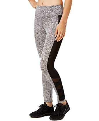 e4ccbadd2 Amazon.com  Ideology Womens Heathered Ankle Athletic Leggings B W XL   Clothing