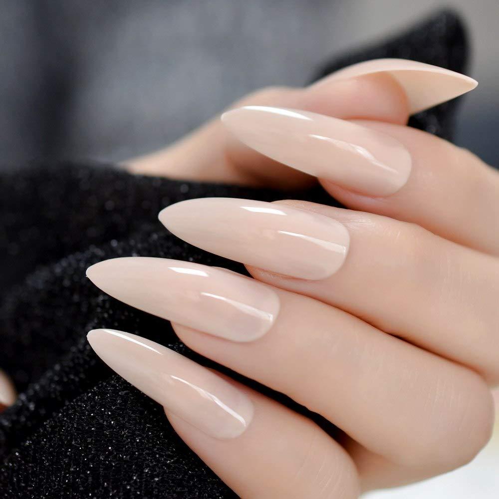 Coolnail Nude Natural Nails Uv Gel Extra Long False Fake Nail Art Tips Acrylic Press On Nails Faux Nails