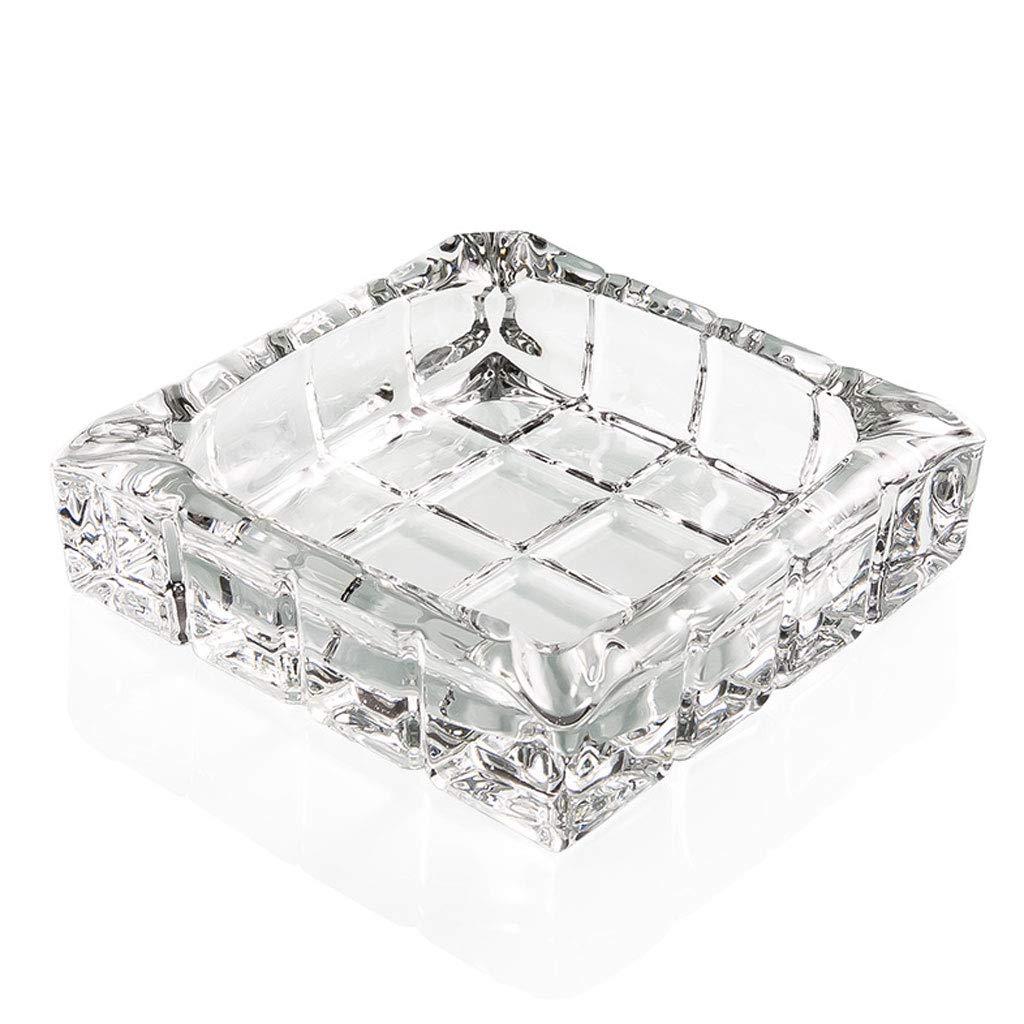 ZDD Fashion Glass Ashtray/Creative Personality Home Practical Ashtray/Decorative Ornaments Gift (ø140mm H40mm)