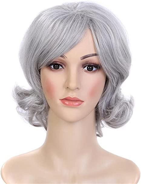 Hjxjxjx Europe And The United States Short Hair Female Middle And Old Hairstyle Wild Face Sexy Fluffy Roll False Hair Sets Amazon Co Uk Sports Outdoors