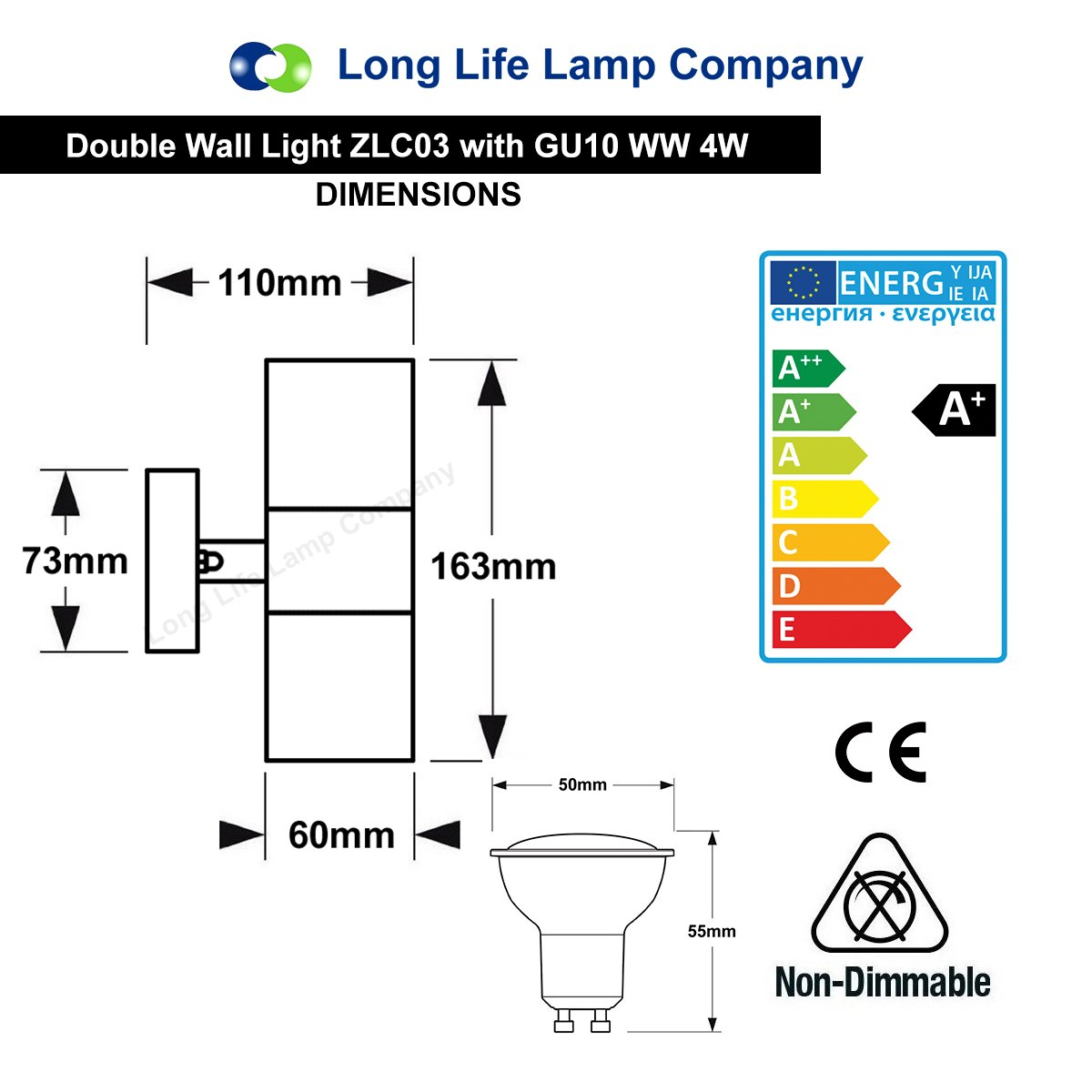 Gu10 8watt Led Wall Light Stainless Steel Double Outdoor Up Down Porcelain Wiring Diagram Ip65 Garden Outdoors