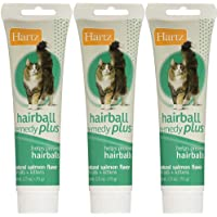Hartz Hairball Remedy Plus Paste for Cats 2.50 oz(Pack of 3)