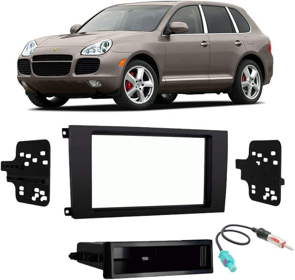 Compatible with Porsche Cayenne (955) 2003 2004 2005 2006 Single Double DIN Stereo Radio Install Dash Kit