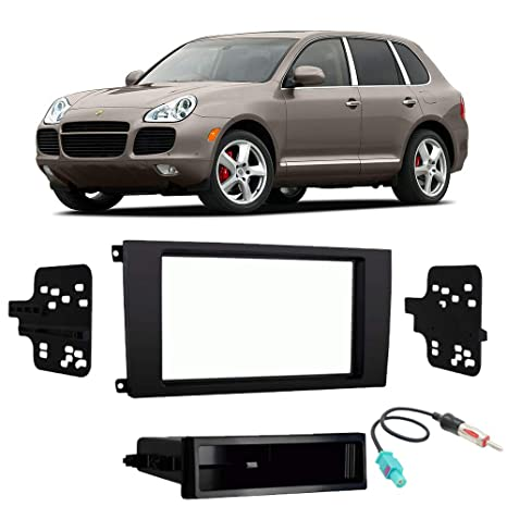 Amazon.com: Porsche Cayenne (955) 2003-2006 Single Double DIN Stereo Radio Install Dash Kit: Car Electronics