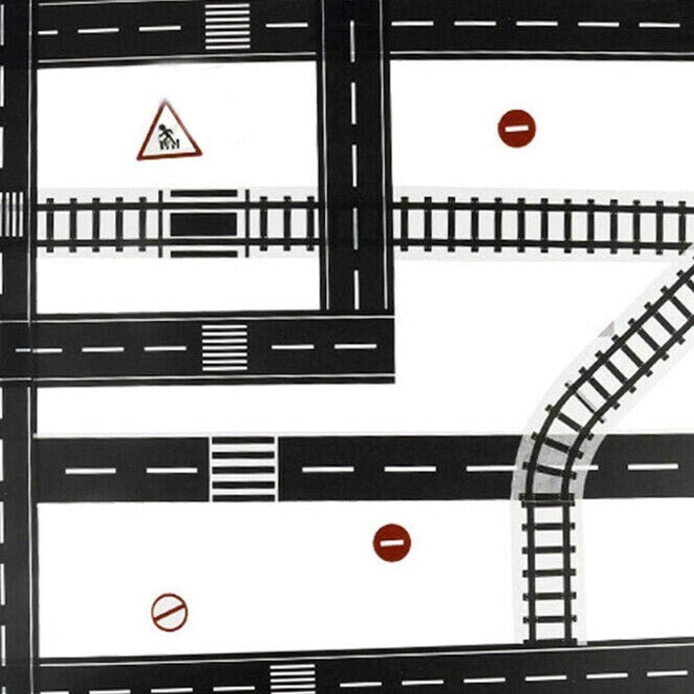 7 st/ücke Kinder Spielzeug stra/ßenmarkierungen Auto Track Eisenbahn themenorientierte kreative Verkehr stra/ßenkleber dekorative Masking Kurven Band Zeichen Aufkleber abnehmbare spielzimmer Spielzeug