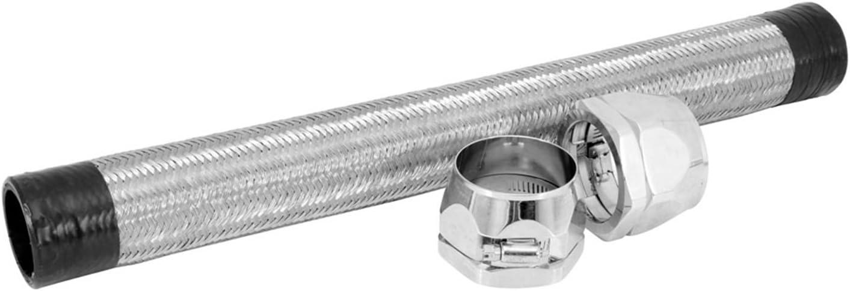 1.5 x 22 Chrome Stainless Steel Flex Radiator Hose Spectre Performance 58228