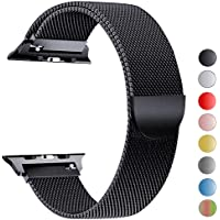 Tervoka Compatible para Correa Apple Watch 44mm 42mm 40mm 38mm, Correa de Acero Inoxidable Reemplazo de Banda de la Muñeca para iWatch Series 4/3/2/1, All Models Available
