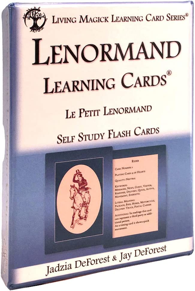 Living Magick Lenormand Learning Cards - Self Study Flash Cards Learning Card Series - Jay Deforest & Jadzia Deforest