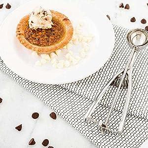 #50 (0.68 oz) Ice Cream Scoop, Cookie Scoop, Portion Control Scoop - Squeeze Handle for Food Release - Stainless Steel - Met Lux - 1ct Box - Restaurantware