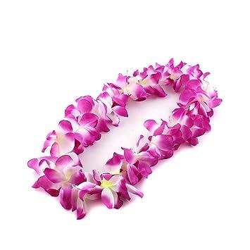 5dc95f5a05d9 Pixnor - Collar hawaiano Flores Cadena guirnalda 100 cm  Amazon.es   Bricolaje y herramientas