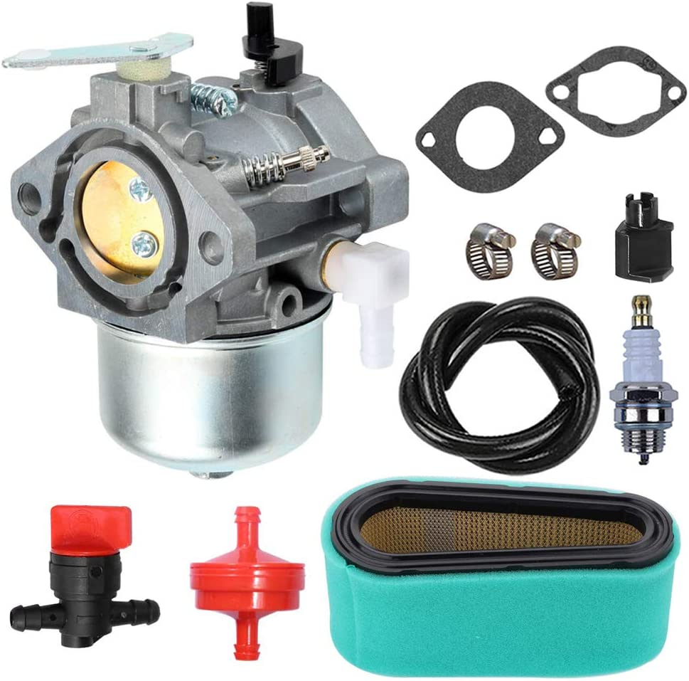 LIYYOO 699831 Carburetor with Air Filter Tune Up Kit Replaces for Briggs /& Stratton 283702 283707 284702 284707 284777 286702 286707 289702 289707 28D702 28D707 28M706 Lawn Tractor Mower Engines