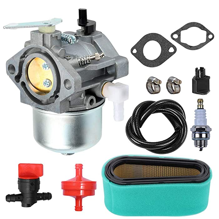 LIYYOO 699831 Carburetor with Air Filter Tune Up Kit Replaces for Briggs & Stratton 283702 283707 284702 284707 284777 286702 286707 289702 289707 28D702 28D707 28M706 Lawn Tractor Mower Engines