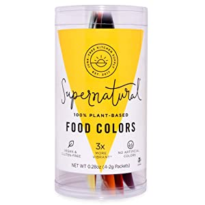 Food Coloring by Supernatural | Vegan | No Artificial Dyes | Plant-Based Colors | Variety Pack (Food Coloring)
