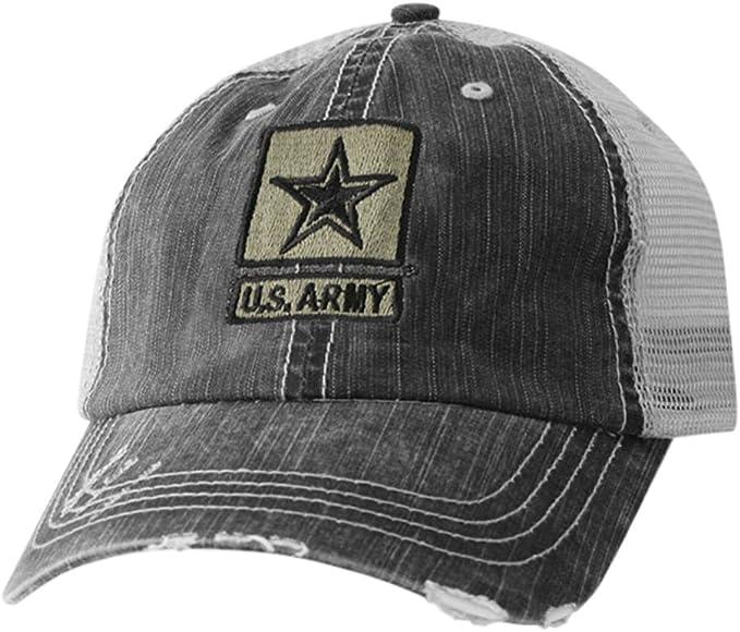 NEW US ARMY STAR BEANIE CAP HAT BLACK