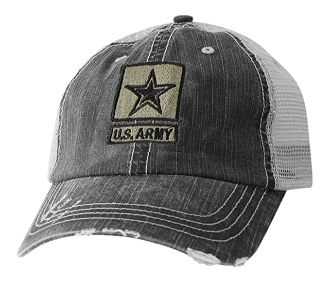 69000de7a22 US Army Hat-Distressed Army Cap with Official Star Logo at Amazon ...