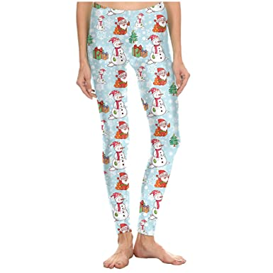 dcc8b6d788744c Zhuhaitf Santa Claus Casual Pants Christmas Tree Leggings Ladies Yoga  Jogger Pajama at Amazon Women's Clothing store: