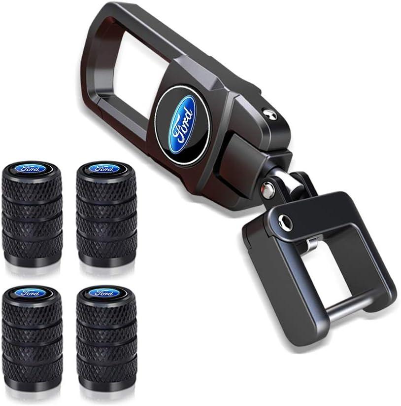 for BMW keychain 4 Pcs Tire Valve Stem Caps Suit for BMW X1 X3 M3 M5 X1 X5 X6 Z4 3 5 7Series with a Keychain Styling Decoration Accessories Key Chain,Elegant