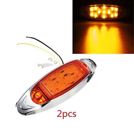 17 *AUDEW 2 x 14 cm luces laterales 13LED F5 Bombilla LED side marker flash ...