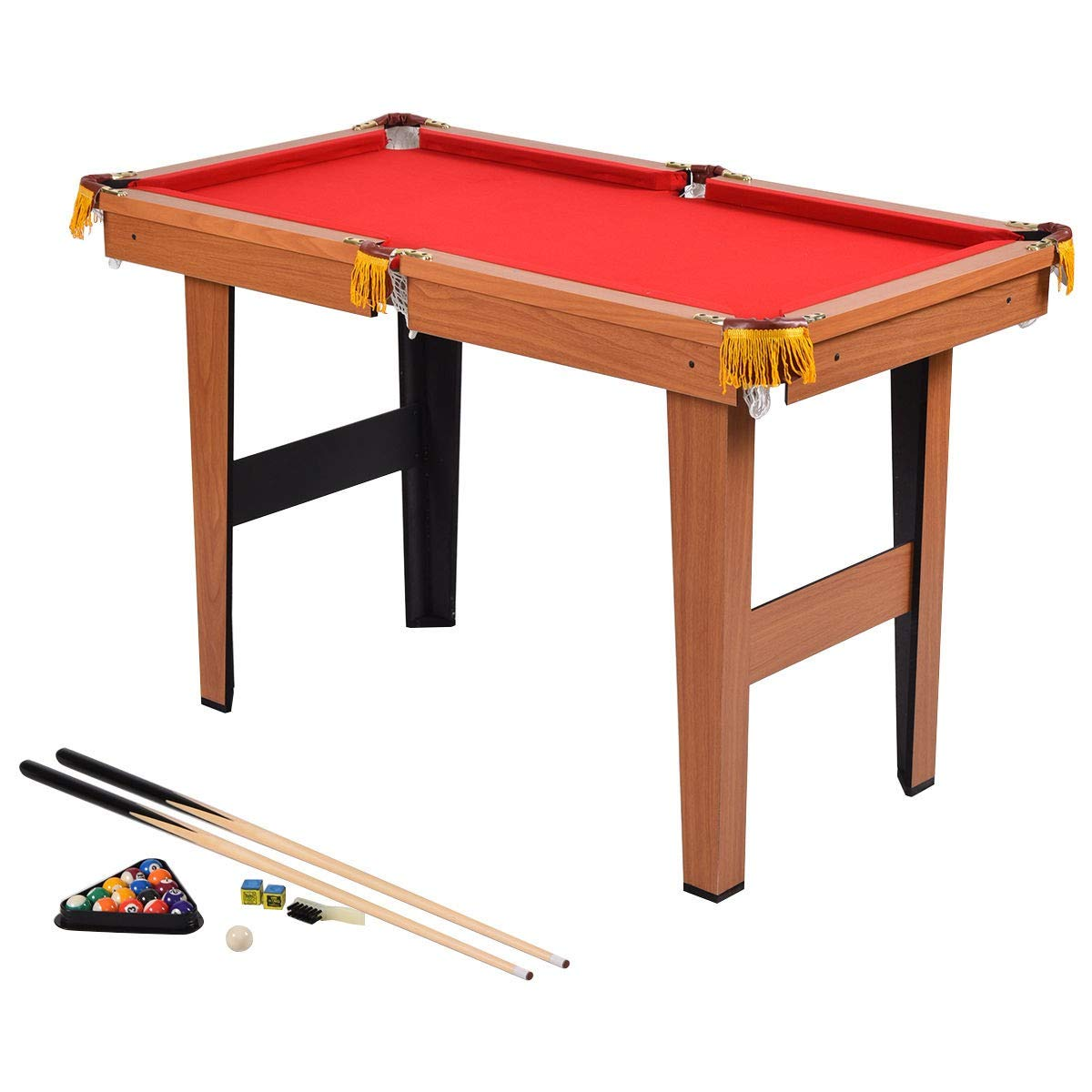 Dayanaprincess 48'' Mini Table Pool Table Game Billiard Set Outdoor Indoor Play Home Party Playroom Entertainment Games Group Team Competition by Dayanaprincess