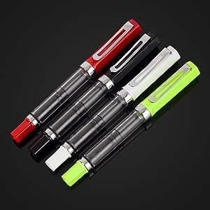 4PCS LANBITOU 3059 0.38mm//0.5mm Fine Nib Fountain Transparent Pen Multicolour