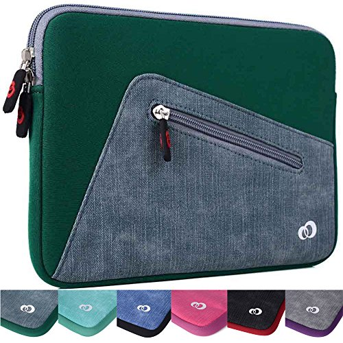 "Kroo Checkpoint Friendly Tablet Sleeve fits Polaroid 9-inch, S9, Ematic 10"" Genesis Prime XL Tablet (Oasis Green Universal Case) -  EnvyDeal, ND11VXGD