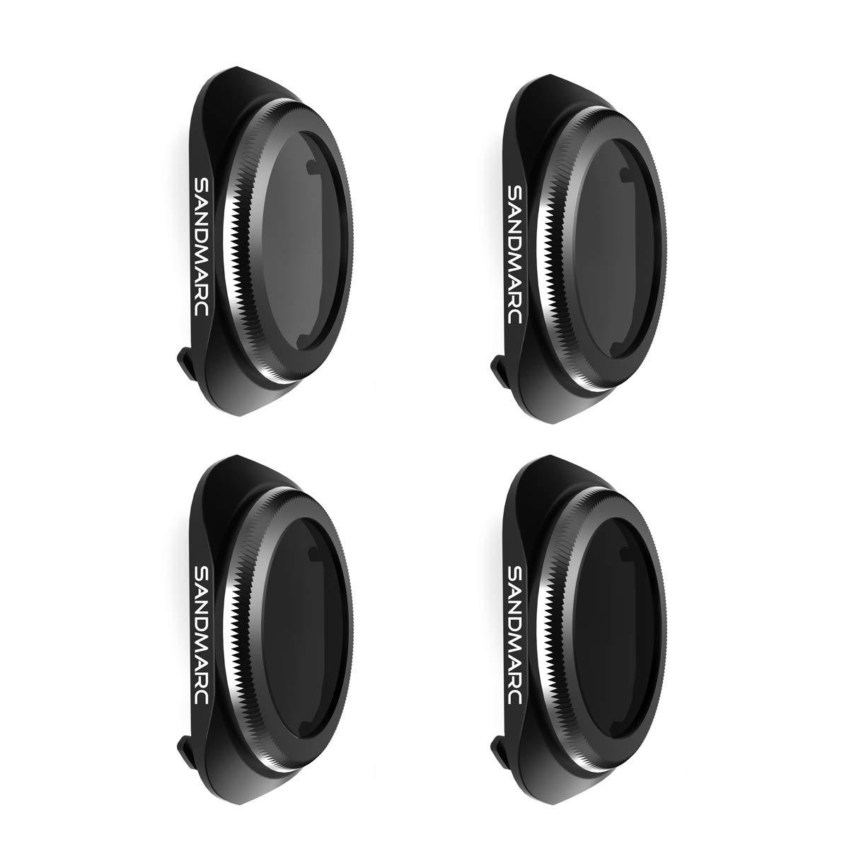 SANDMARC Pro Filters for DJI Mavic 2 Pro - ND4/PL, ND8/PL, ND16/PL, ND32/PL Filter Set (4-Pack) by SANDMARC (Image #1)