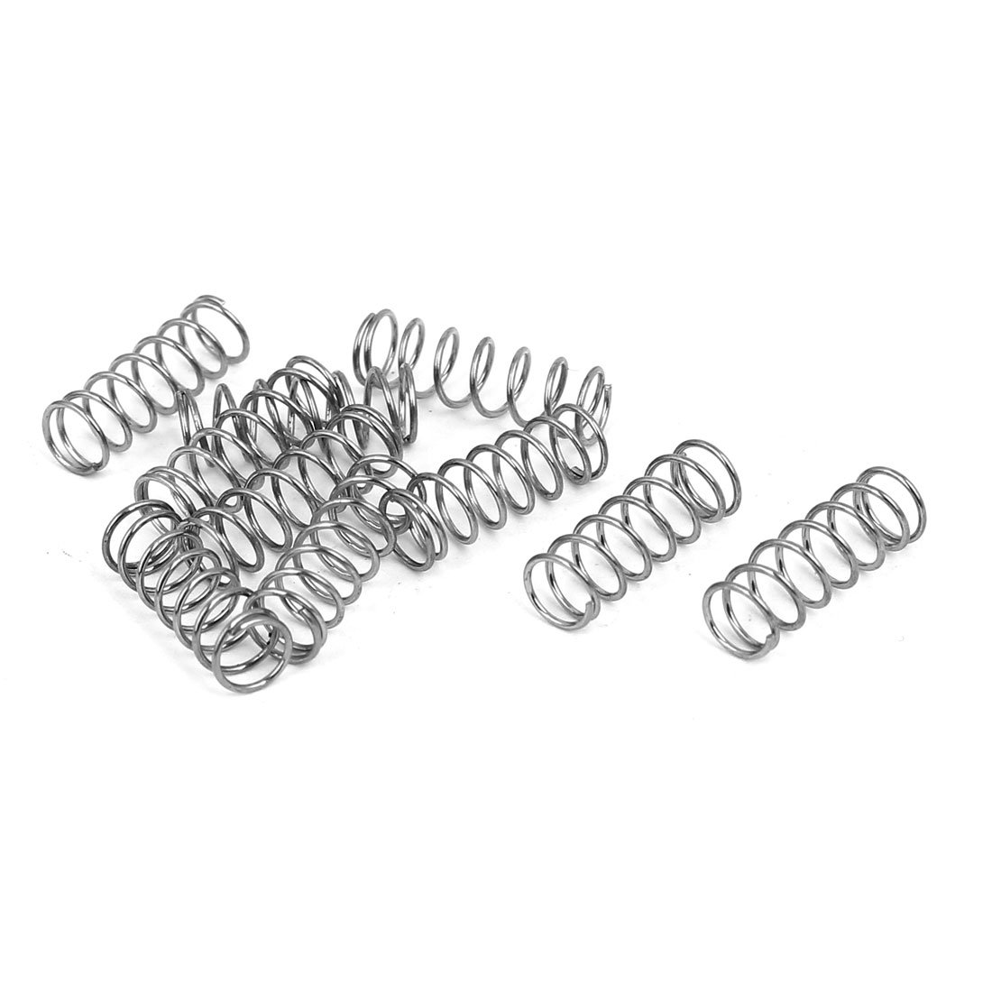 sourcingmap 0.5mmx5mmx15mm 304 Stainless Steel Compression Springs 10pcs