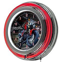 Honda Grom Chrome Double Ring Neon Clock, 14