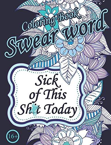 Swear Word Coloring Book Sweary Unigue Designs