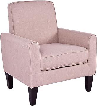 Amazon.com: LAPHs Modern Accent Leisure Linen Single Sofa ...