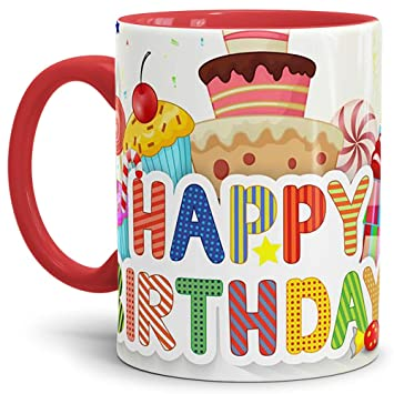 Tasse Fur Kinder Geburtstag Happy Birthday Cake