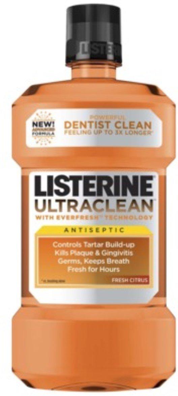 Listerine Ultraclean Antiseptic Fresh Citrus 1500 mL (10 Pack)
