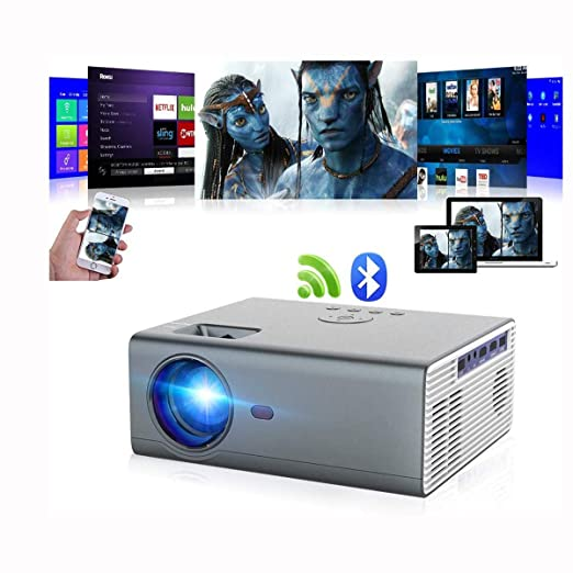 Proyector Bluetooth Proyector portátil Nativo inalámbrico LED 8000 ...
