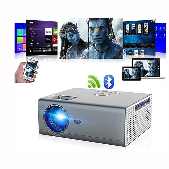 Proyector Bluetooth Proyector portátil Nativo inalámbrico LED 8000 ...