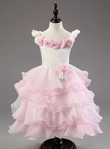 Happy Cherry – Gonna Abito di tulle di Fiesta per bambina bambini per  matrimonio cerimonia wedding 34761c4e975