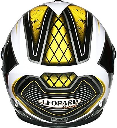 57-58cm Leopard LEO-813 Full Face Motorbike Helmet DOT /& ECE 22.05 Approved #02 Black M