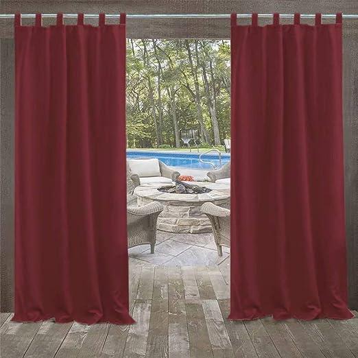 DOMDIL - Cortinas para exterior, cortinas para jardín, cortinas para balcón, 132 x 275 cm, cortinas con