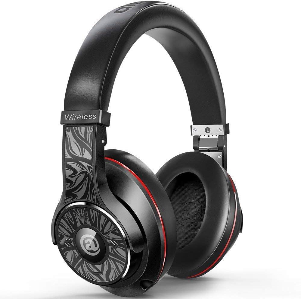 Wireless Headphones - Passive Noise Cancelling Headphones Bluetooth Headphones with Mic Deep Bass Wireless Headphones Over Ear, Comfortable Protein Earpads, DJ Headphones for Travel Work PC