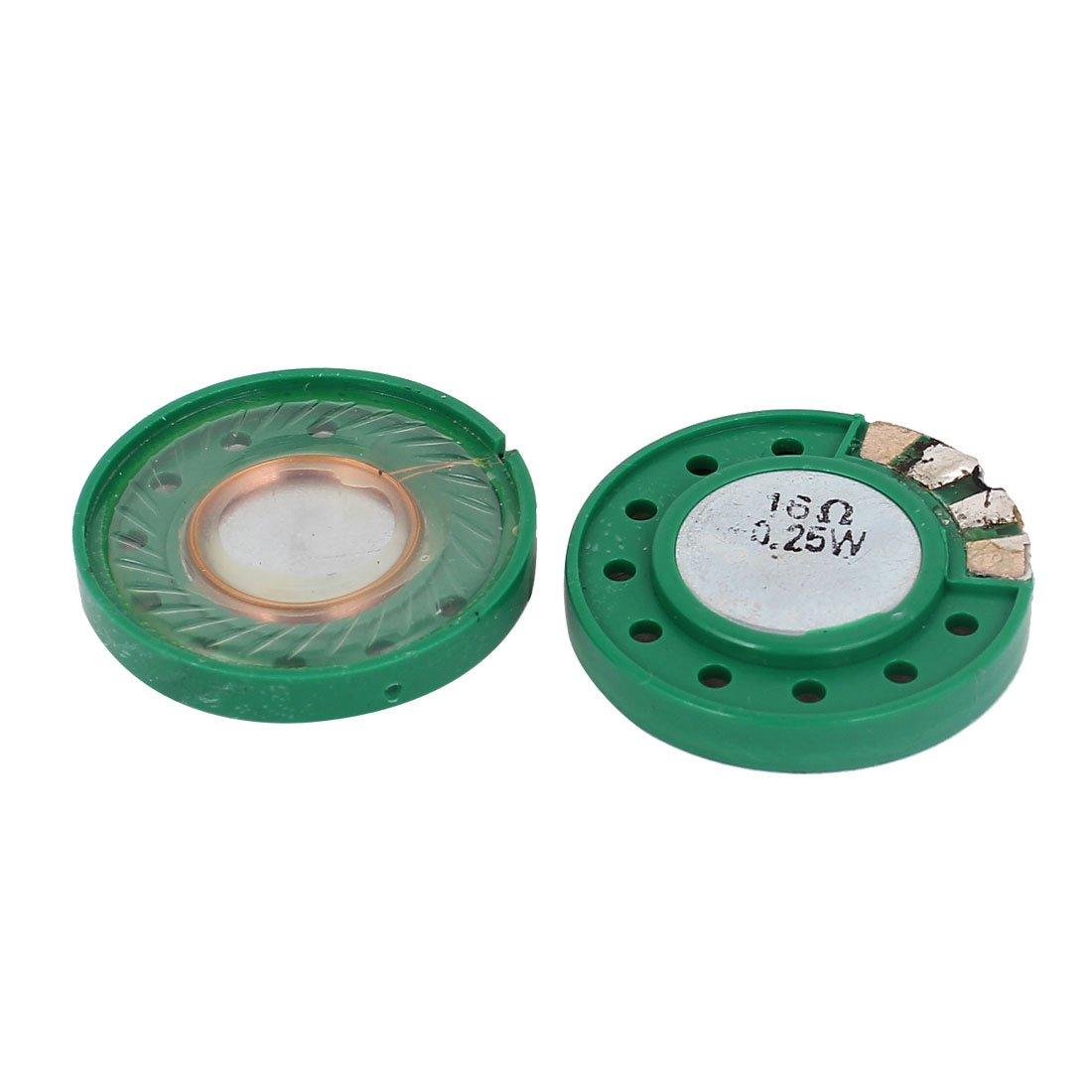 0.25W 16 Ohm 29mm Dia externe Magnet Speaker Klaxon Haut-parleur 2 Pcs sourcing map a15032300ux0099